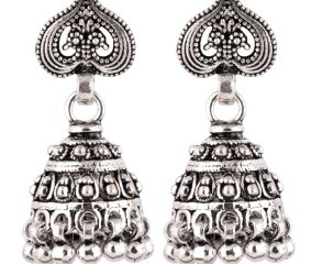 92.5 Sterling Silver Earrings Ethnic Daily Wear Jhumki Earrings