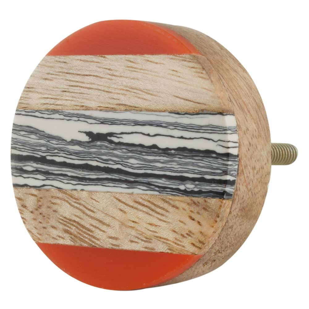 Multicolor Resin And Wood Cabinet Knob