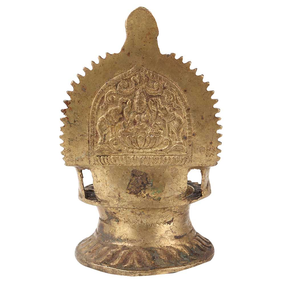 Brass Ornate Gajalaxmi Oil Lamp Diya Oil Lamp Deep