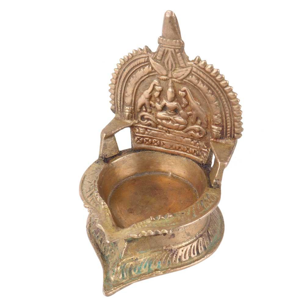Traditional Brass Small Gajlaxmi Pooja Lamp