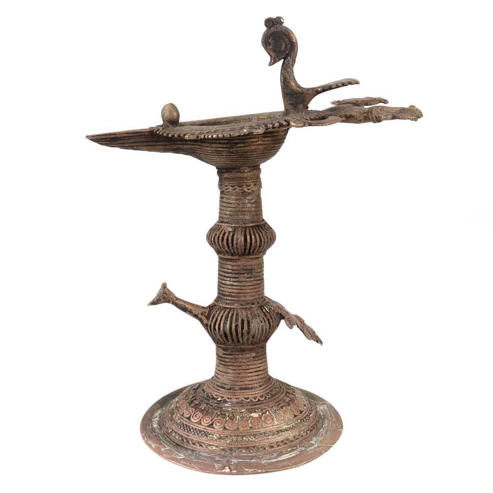 Brass Oil Lamp Dhokra Handcrafted Diya Lamp