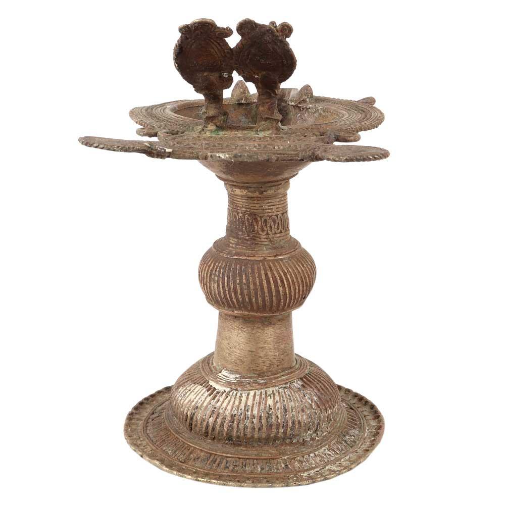 Brass Oil Lamp Dhokra Brass Metal Hand oil Lamp/ Samai