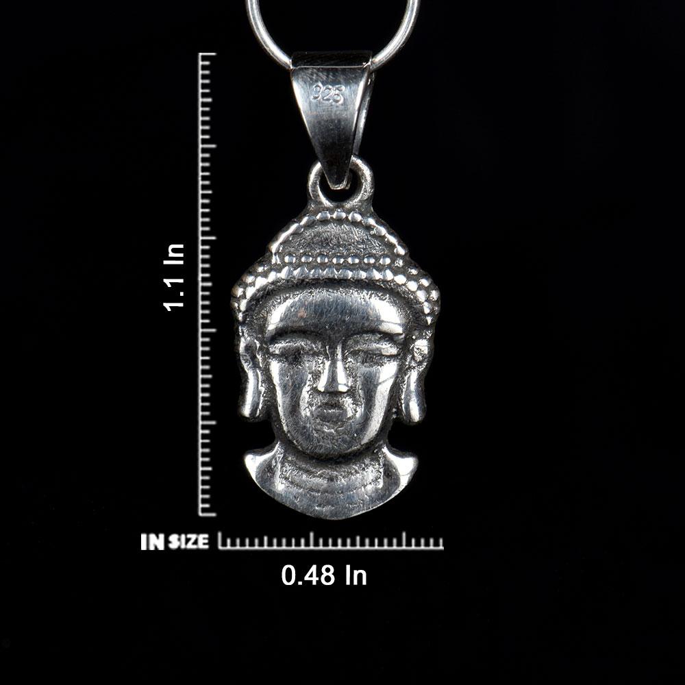 92.5 Sterling Silver Gautam Buddha Face Pendant For Men And Women
