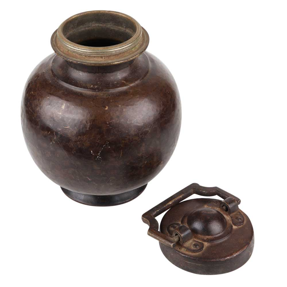 Handcrafted Brass Holy Water Pot With Lid