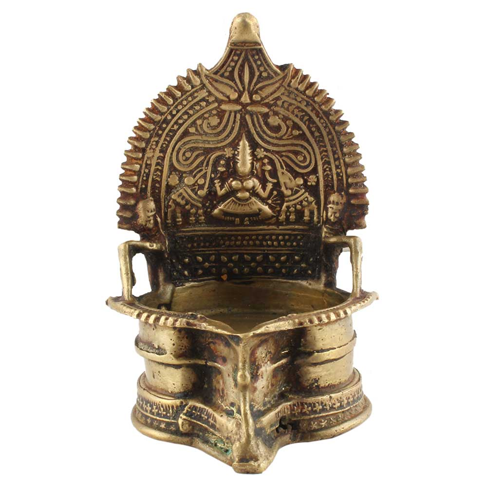 Brass Oil Lamp Cotton Wick Diya Lamp