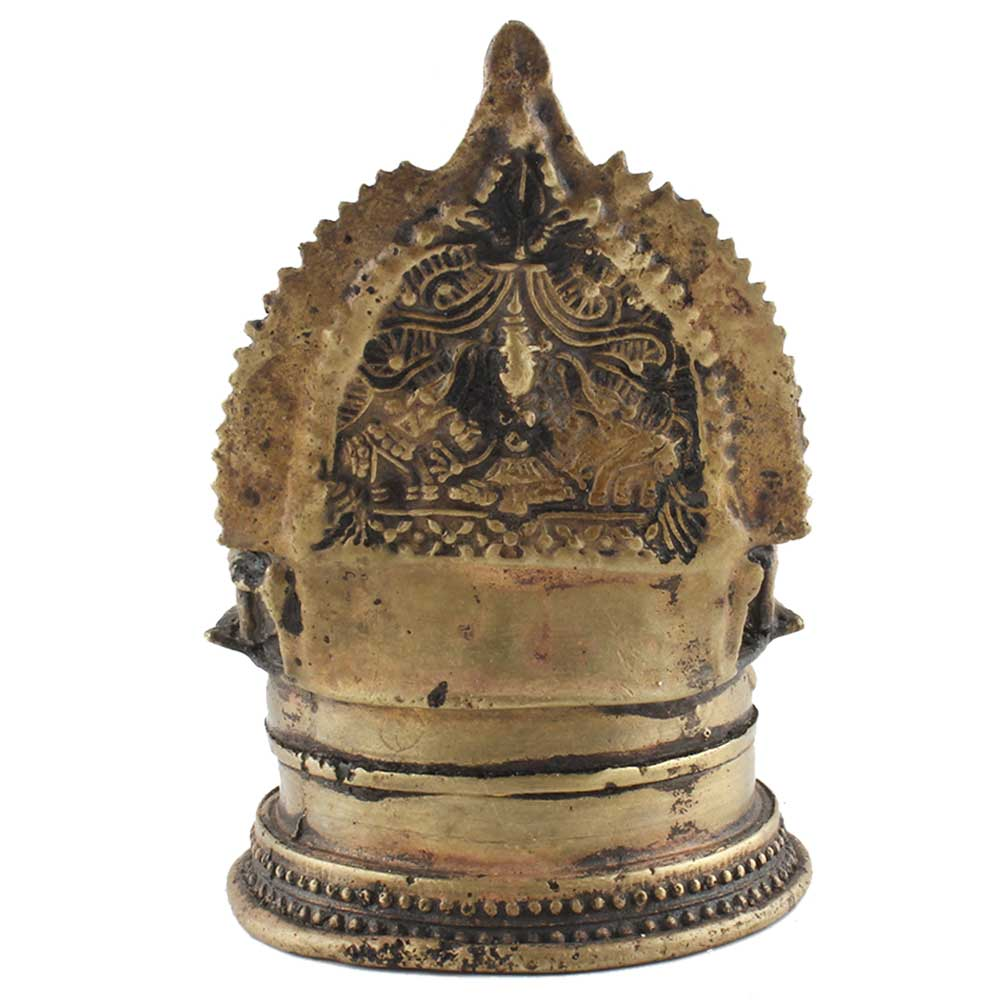 Small Brass Oil Lamp With Intricate Carvings