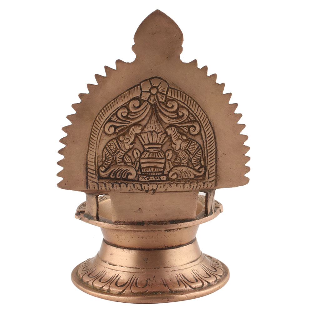 Ashtadhatu Ritual Engraved Oil Lamp