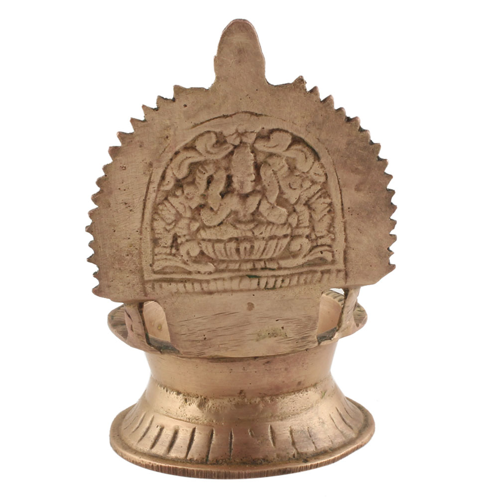 Handmade Small Pooja Oil Lamp Ashtadhatu Worship Lamp