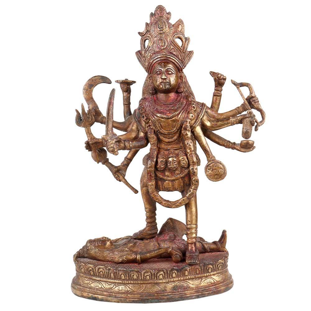 Brass Maha Kali Goddess Statue