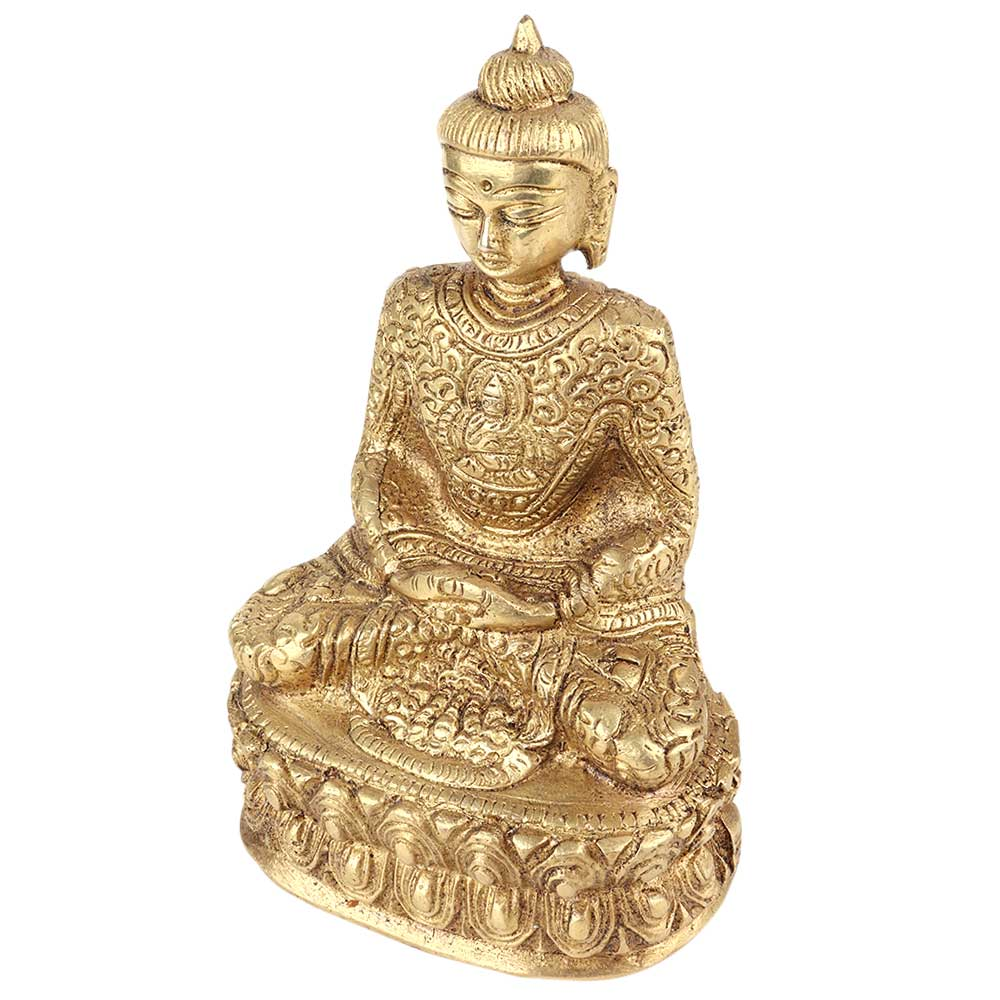 Brass Sitting Meditating Buddha Statue