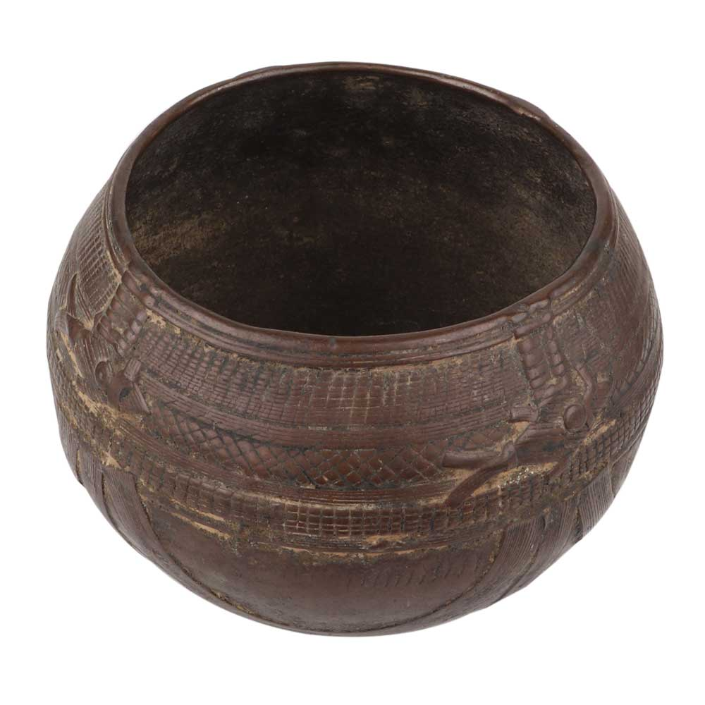 Hand Crafted Brass Rice Measure Bowl