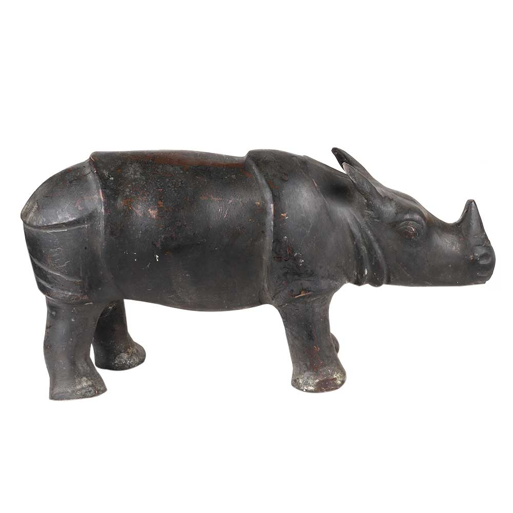 Brass Standing Hippo Home Decoration Statue