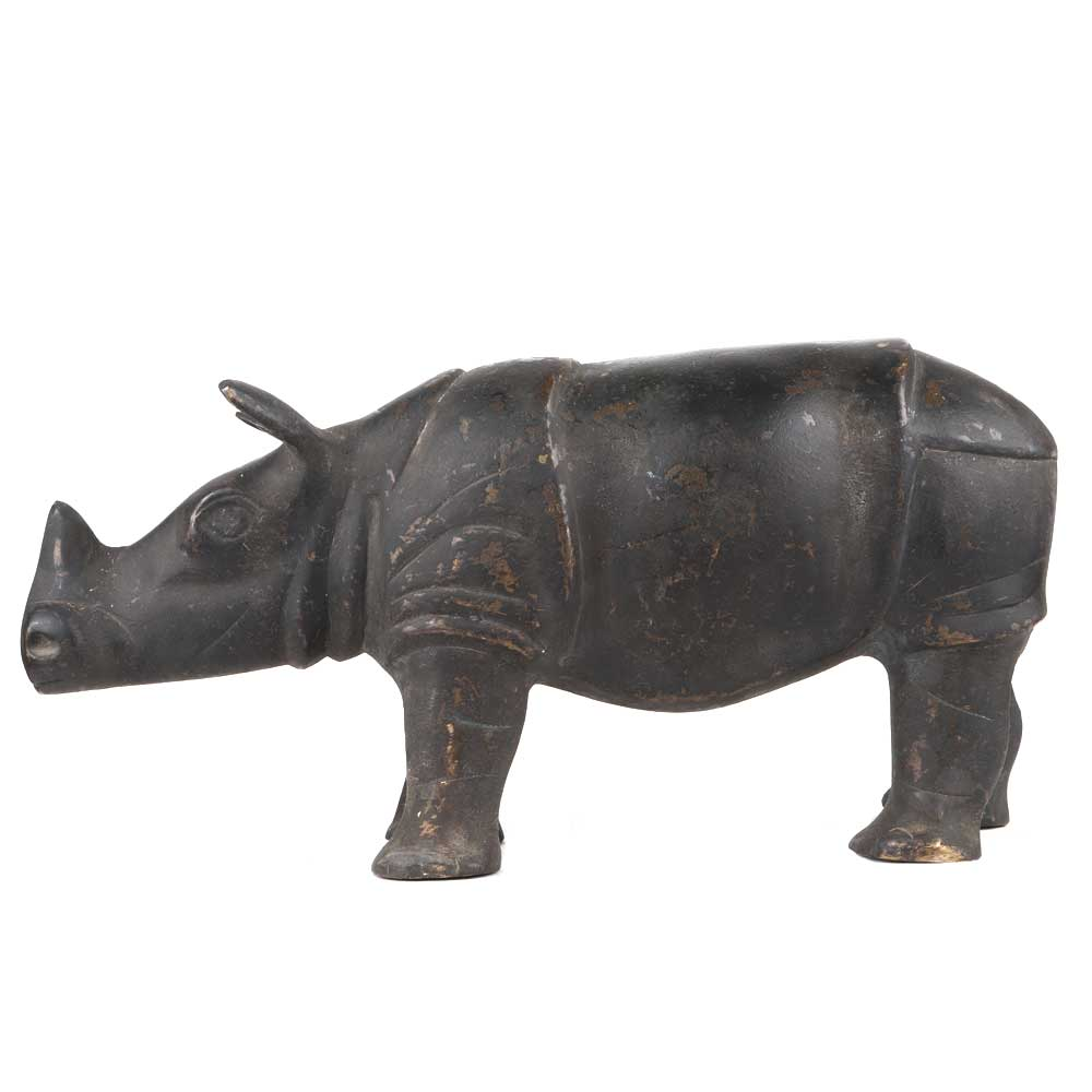 Hand Crafted Wild Animal Hippo Standing Statue