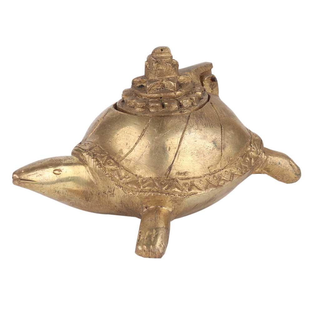 Handmade Brass Turtle Storage Box