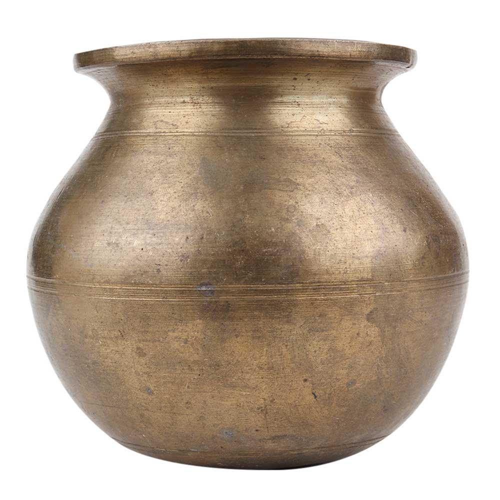 Brass Plain Looking Water Storage Pot