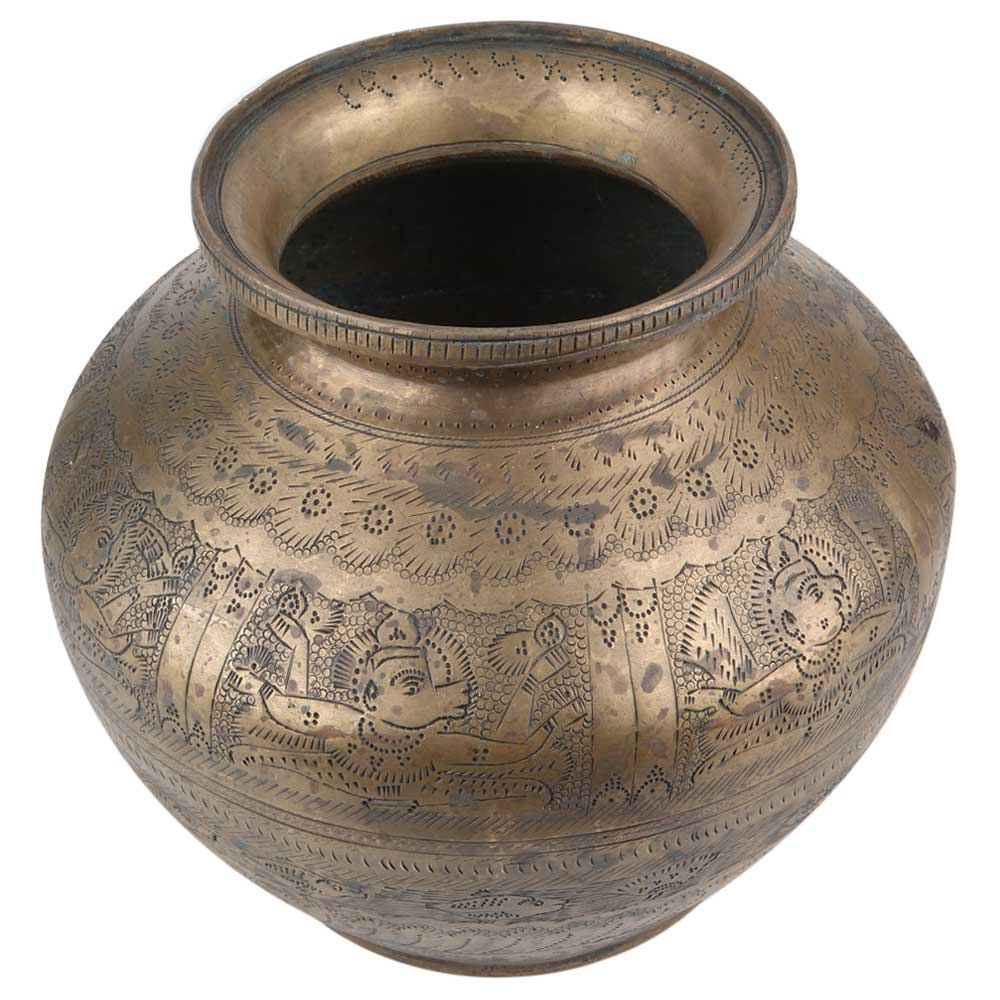 Brass Pot Hindu Gods Pooja Holy Water Pot