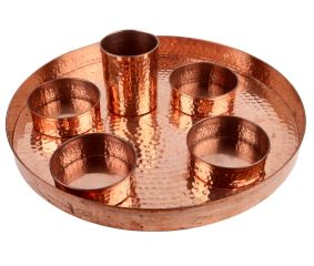 Hand Hammered Copper Dish Set of  Six Pieces