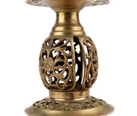 Brass Decorative Finely Carved Pillar Stand
