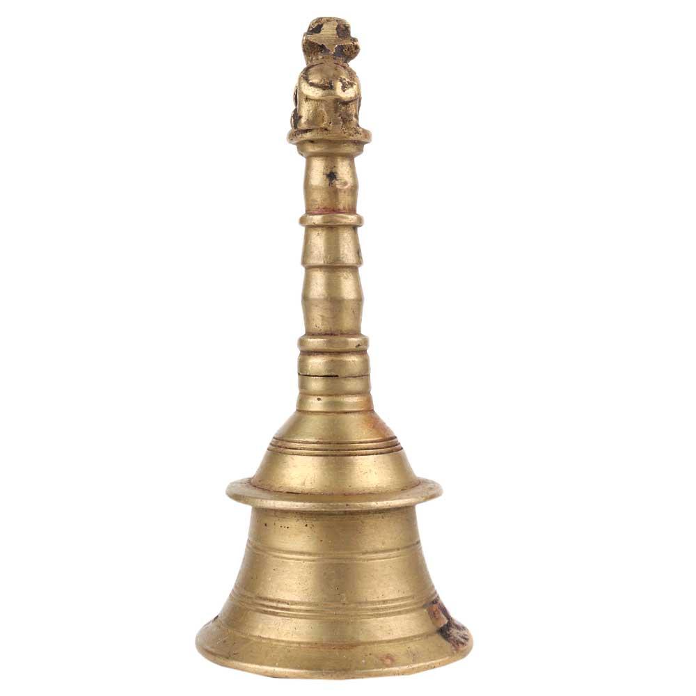 Brass Bell Hindu Nandl Handmade Temple Bell
