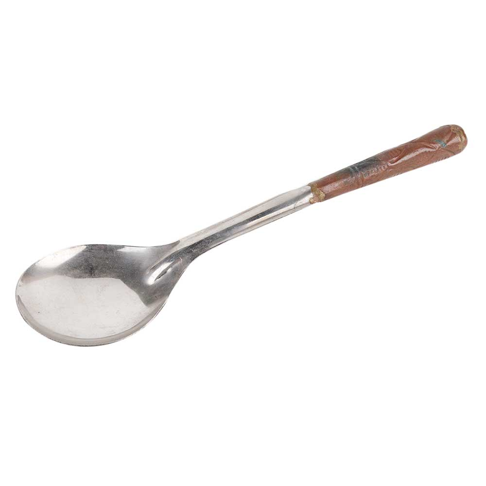 Stainless Steel Serving Spoon with Decorative Copper Handle
