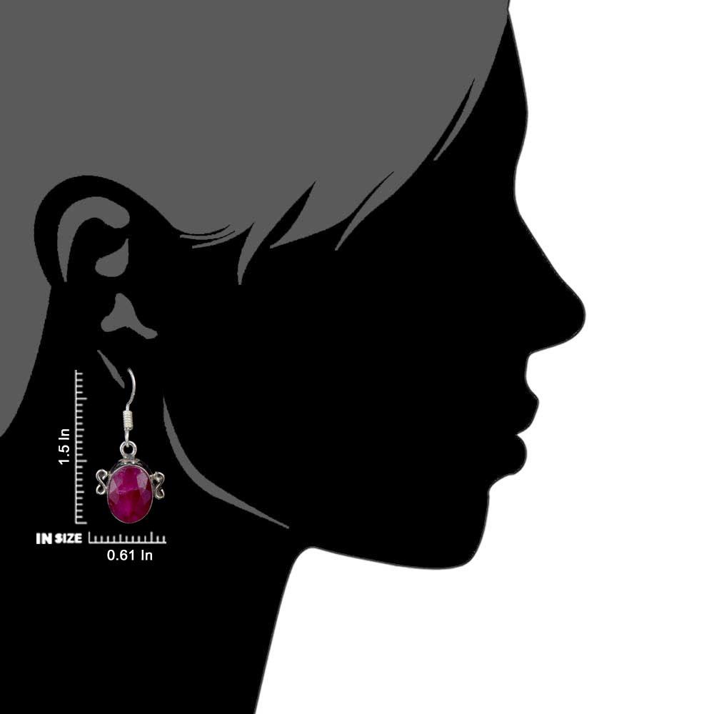 92.5 Pink Tourmaline Sterling Silver Earrings Semi Precious Stones Earrings
