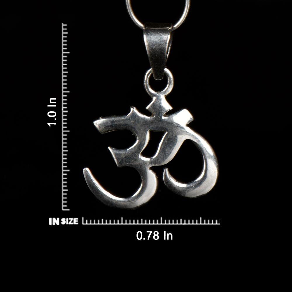 92.5 Sterling Silver Pendant Big  Bold Om Design Hindu Holy Pendant