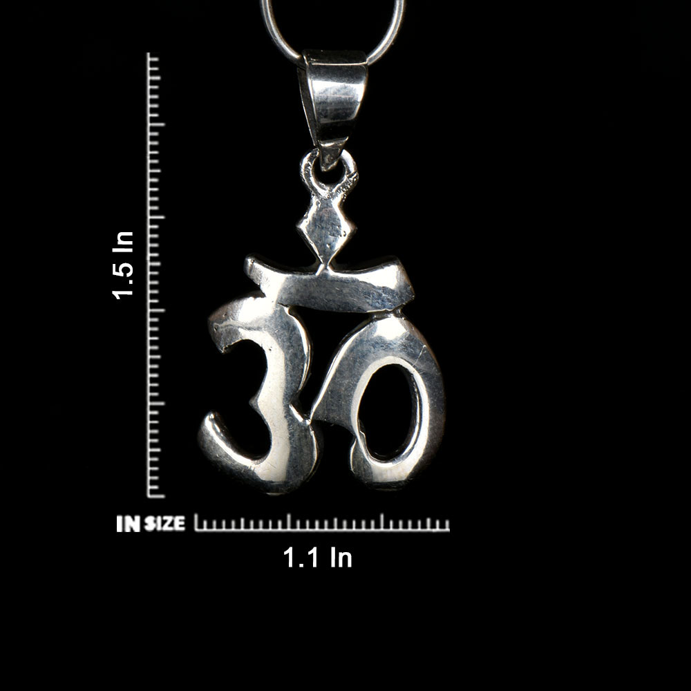 92.5 Sterling Silver Pendant Hand made Om Pendant Holy Worship Pendant