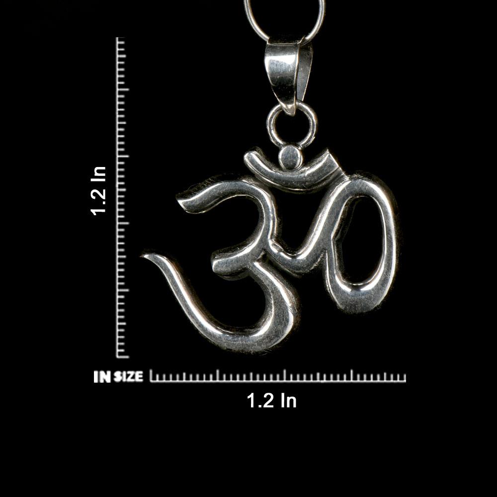 92.5 Sterling Silver Om Symbol Pendant Spiritual Harmony Pendant