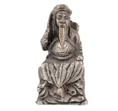 Aluminum Sitting Wise Man Statue Holding a Sword