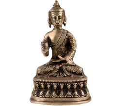 Lord Buddha Sitting Statue With Fine Carving