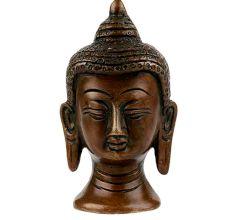 Brass Buddha Head Showpiece Gift
