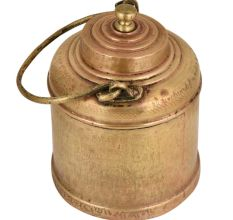 Bass Milk Pot Round Base Golden Finial