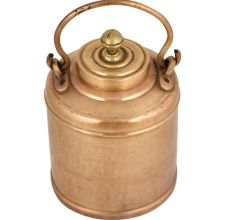 Brass Milk Pot Hammered Finial On Small Lid