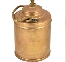 Traditional Brass Milk Pot With VPR Engraved On Handle