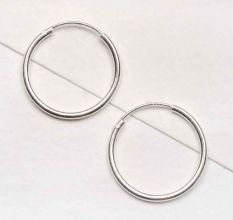 Classic 92.5 Sterling Silver Hoop Bali Earrings For Women