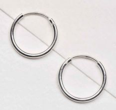 Glossy 92.5 Sterling silver Bali Earrings Hoops Every Day Office Wear