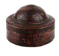Small Copper Box Hammered Trinket Storage box