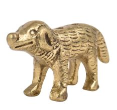Handmade Incense Holder Brass Standing Dog Statue