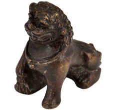 Brass Foo Dog Temple Lions Statue Feng Shui Showpiece