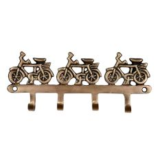 Brass Three Cycles Wall Hook Hanger