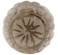 Clear Round Patterned Glass Knob