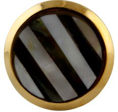 Black Strip Brass Shell Cabinet Knob