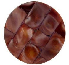 Brown Inlay Resin Decor Knobs
