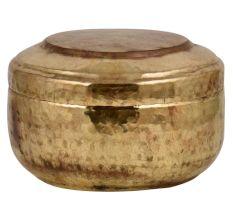 Hand Hammered Brass Round Tiffin Box