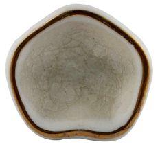 Cream Ceramic Cabinet Knob in Silver Fitting
