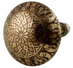 Brass Floral Cabinet Knobs