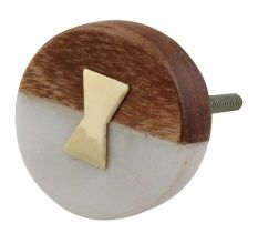 Stone And Wooden Flat Cabinet Knobs Online