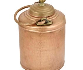 Brass Milk Pot Hammered Design Small Lid With Finial
