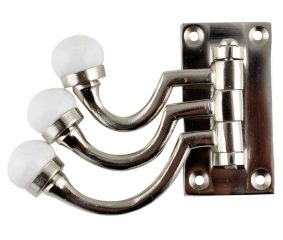 3 in 1 Silver Metal and Ceramic Wall Hooks