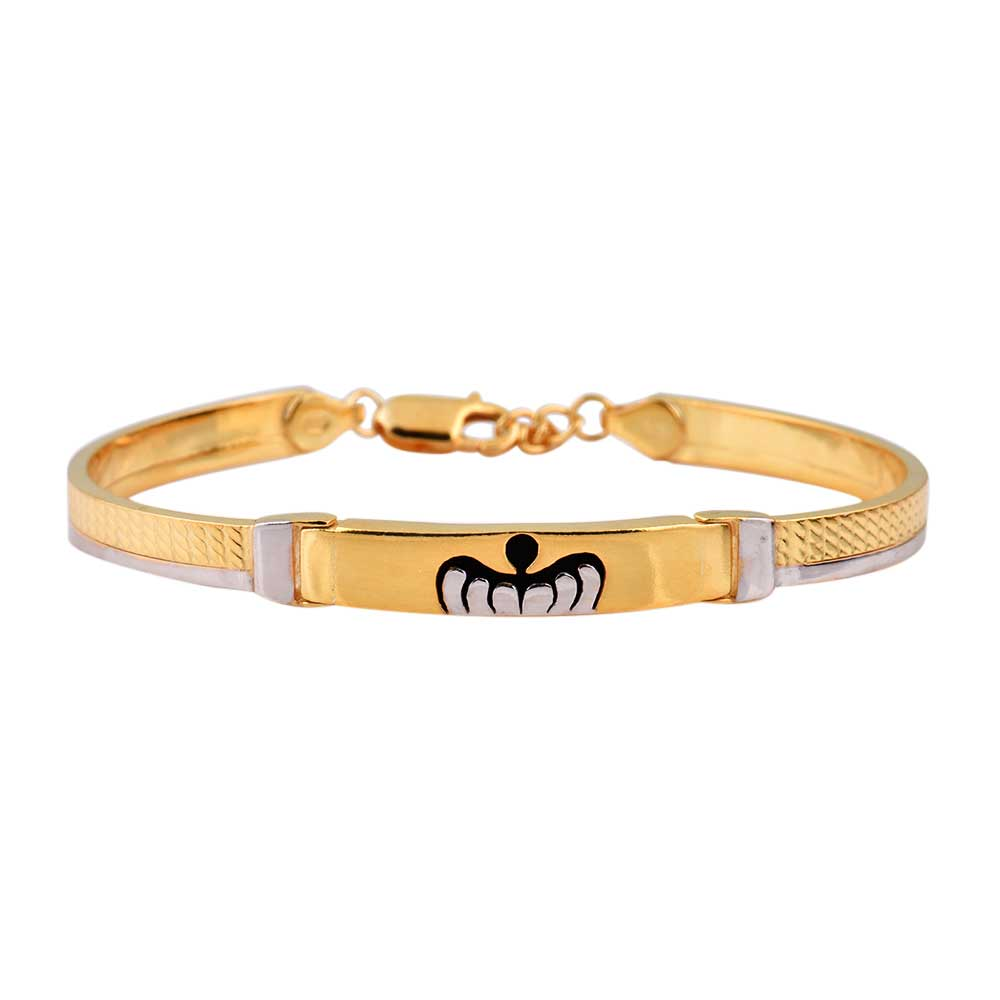 92.5 Sterling Silver Bracelet Adjustable Kadaa With Insect Logo And Gold Plating